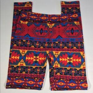 🎃 LLR Lularoe Leggings Aztec Print Faces One Size